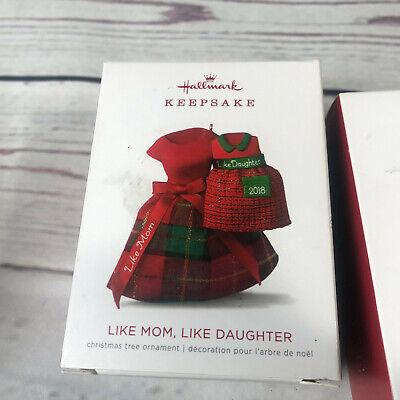 Hallmark Christmas Ornament LIKE MOM, LIKE DAUGHTER 2018 Mother FabricSkirt READ Daughter Hallmark Ornament