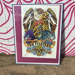 Foo Fighters Tour Poster,2008, framed, Limited edition WE CAN DELIVER