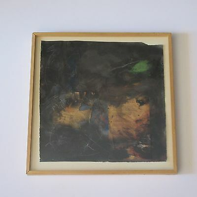 JEAN ST PIERRE COLLAGE 1970'S ABSTRACT EXPRESSIONISM PAINTING MODERN LOS ANGELES