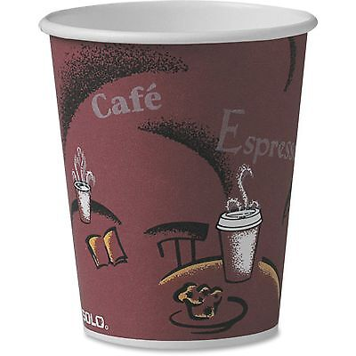 Solo Cup Paper Hot Cup 10 oz. 300/CT Maroon OF10BI0041