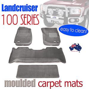 Toyota landcruiser 100 series 1998 2007 3d car floor mats for 100 series land cruiser floor mats