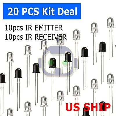 20pcs 5mm 940nm Leds Infrared Emitter And Ir Receiver 10pairs Diodes F5 N217