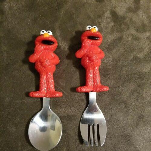 Vintage Elmo Sesame Street Child s FORK SPOON Set - $4.99
