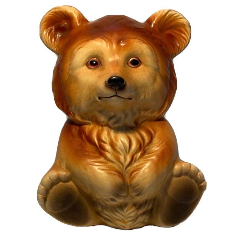 Lefton Teddy Bear Penny Piggy Bank Japan