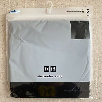 Alexander Wang Uniqlo AIRism Short-Sleeve Crew Neck T-Shirt Men's Small Black