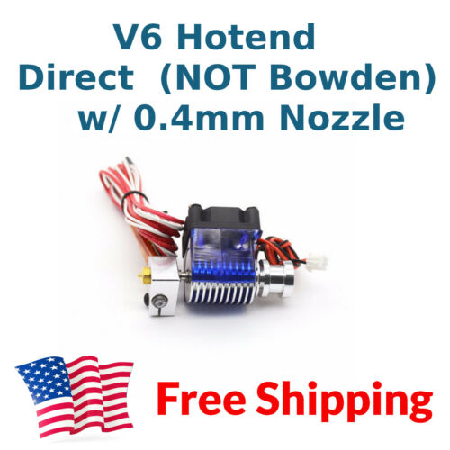 24V V6 J-head DIRECT Drive Hotend Kit 1.75 mm 24V Extruder Free US Shipping