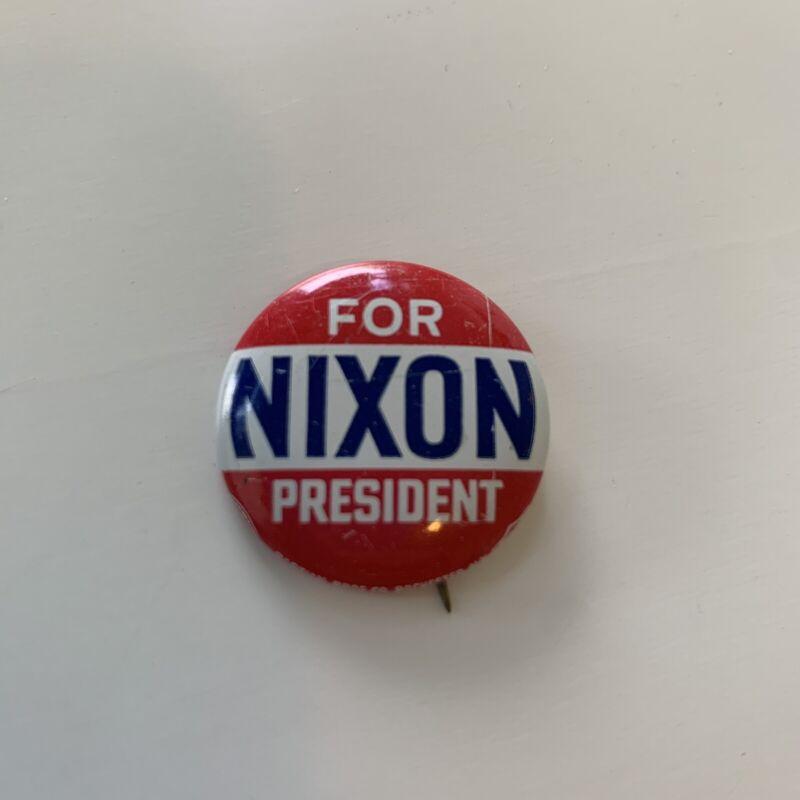 Nixon For President - Presidential Campaign Button Pin Union Red White Blue