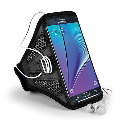 Black Mesh Running Sport GYM Armband for Samsung Galaxy S8 /