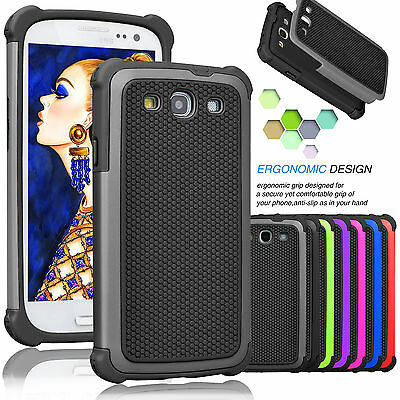 For Samsung Galaxy S3 III Phone Cover Armor Shockproof Rugged Rubber Hard Case  - Samsung S3 Case