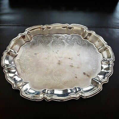 S//Steel Oval Serving Dish TRAY 3 LARGE SIZE 23 CM SIZE 17.5X 23 X 3.5CM