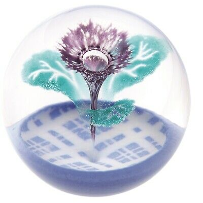 Caithness Glass U14114 Thistle Paperweight