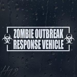 Zombie-Outbreak-Response-Vehicle-Car-Decal-Vinyl-Sticker-Fow-Window-Panel-Bumper