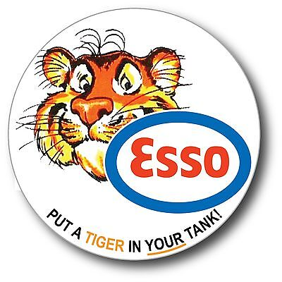 ESSO GASOLINE TIGER IN YOUR TANK HIGH GLOSS OUTDOOR 3.5 INCH DECAL STICKER
