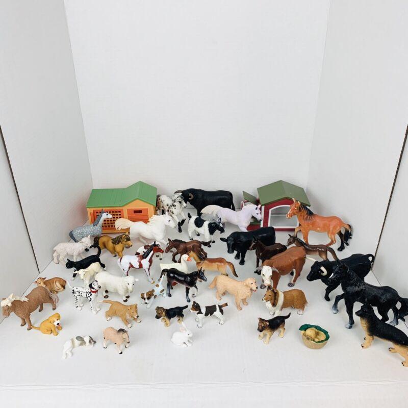 Lot Of 43 Barnyard Domestic Animal Figures Terra Kijo Safari Ltd