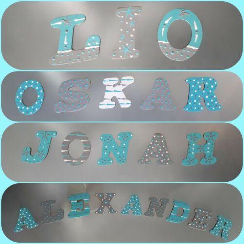 Buchstaben Holzbuchstaben Kinder Baby Name Kinderzimmer Tür Deko Türschild 42