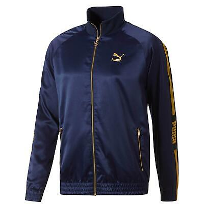Puma Luxe Pack Mens Track Top Bomber Jacket Zip Up Peacoat 578774 06