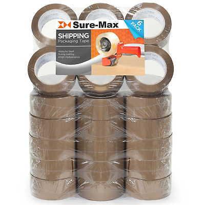 36 Rolls Carton Sealing Brown Packing Tape Shipping - 2 mil 2