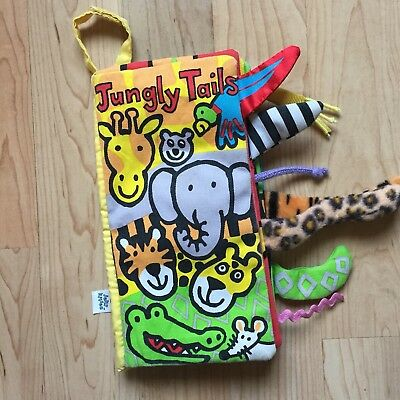 Jellycat Soft Cloth Book Jungly Tails Baby Kid Intelligence Development Toy