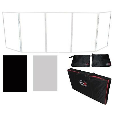 ProX XF-5X3048W White Aluminum 5 Panel Scrim Facade Frontboard Package + Bags