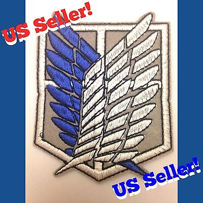 Attack On Titan Scout Regiment Iron On Cloth Emblem Patch Cosplay Survey Corps