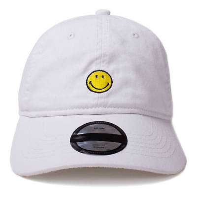 Smiley Offiziell Original Smiley Gesticktes Logo Papa Kappe, Weiß (BA706117SML)