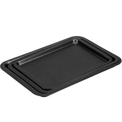 VonShef Set of 3 Non Stick Baking Roasting Carbon Steel Oven Trays