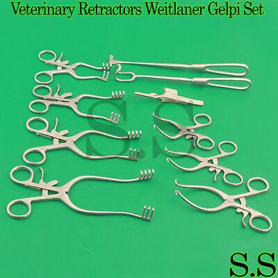 Surgical Veterinary Retractors Weitlaner Gelpi Instruments Set Of 10