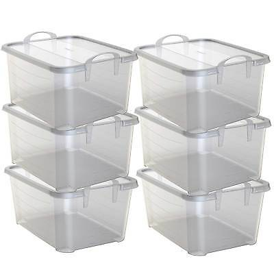 Life Story Clear Stackable Closet & Storage Box 55 Quart Con