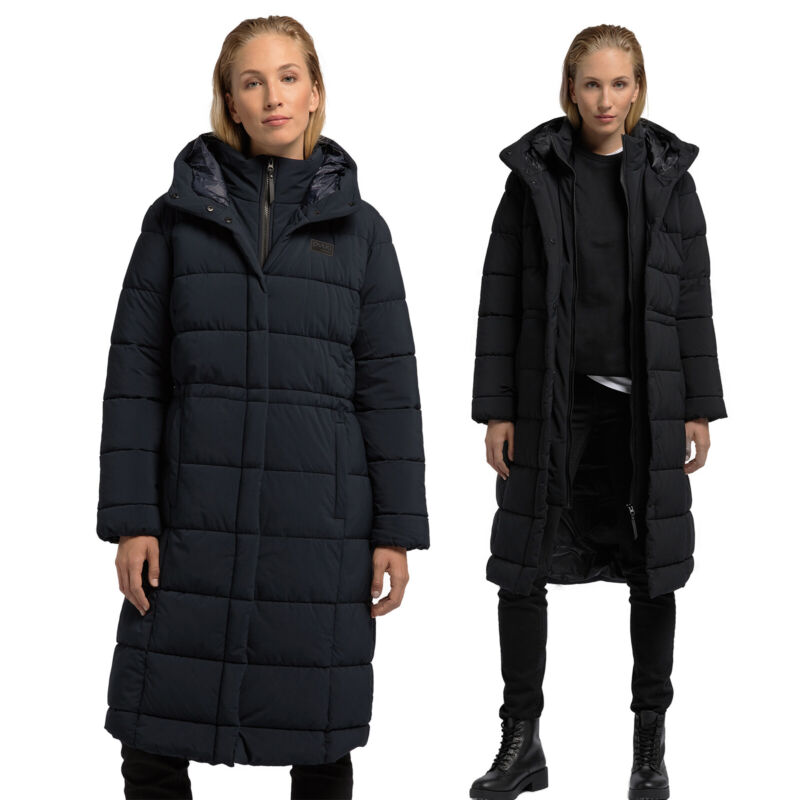 PYUA URBAN | Damen Steppmantel lang | Eco Wintermantel