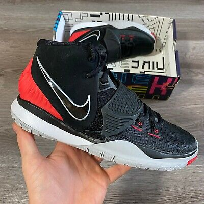 NIKE KYRIE 6 BASKETBALL GS BLACK RED BRED TRAINERS SIZE UK5 US5.5Y EUR38