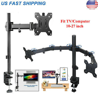 Desk Mount Monitor Arm (Single /Dual Arm Monitor Desk Mount Computer TV Screen Bracket Stand 13-27'' )