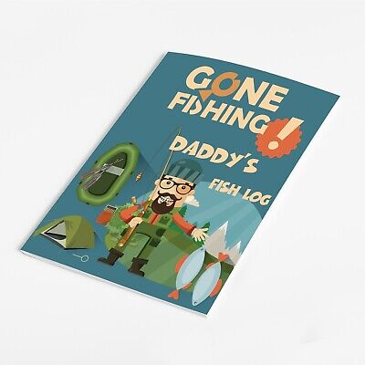 Personalised Fishing Diary Fishing Journal Angling Log Book/Fisherman Gone Fish