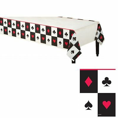 oker Card Vegas Red Black Tablecloth Cover Birthday Party (Casino Birthday Party)