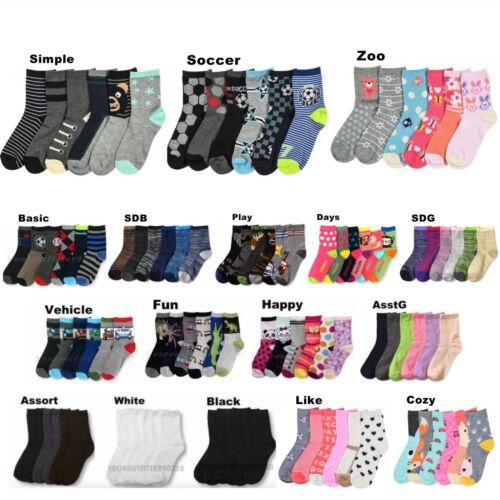Boy Girl Crew Ankle School Socks Lot Casual 0-12 2-3 4-6 6-8 Baby Toddler Kids
