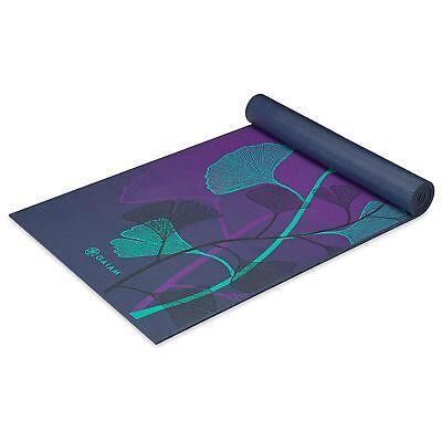 Gaiam 05-62433 Premium Print Yoga Mat, Lily Shadows