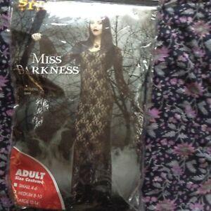 New Miss Darkness Costume Size M (8-10)