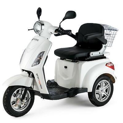 WHITE Trike 3 Wheeled ELECTRIC MOBILITY SCOOTER 900W VELECO ZT15