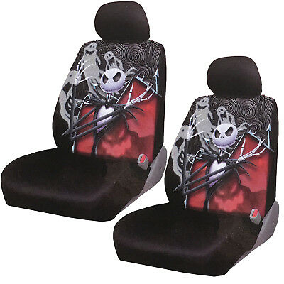 New Nightmare Before Christmas Jack Gostly Car Truck 2 Front Seat Covers Set ()