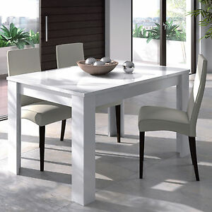 Lanza Extending Dining Table 90cm X 140cm 190cm White 4 6 Seater