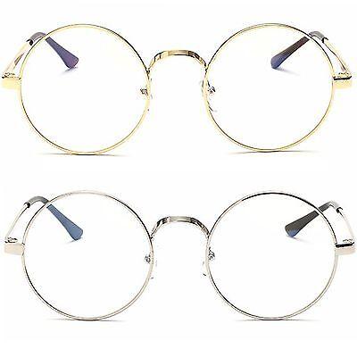Rund Klar Linse Mode Brille Damen Herren