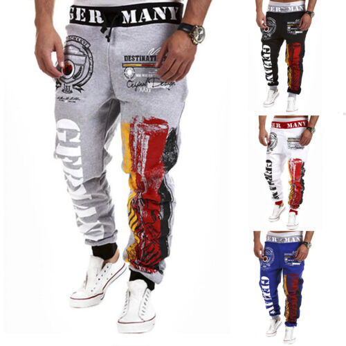 Men Sweatpants Casual Gym Joggers Pants Jogging Running Sports Trousers Bottoms Clothing, Shoes & Accessories