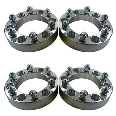 "Four 6 x 5.5 139.7 Wheel Spacers 12x1.5 1"" fit K10 K15 Frontier Titan Wagoneer"
