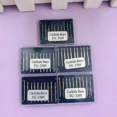 50pcs Dental Carbide Burs Fg330 Pear-shaped High Speed Tungsten Steel Sale