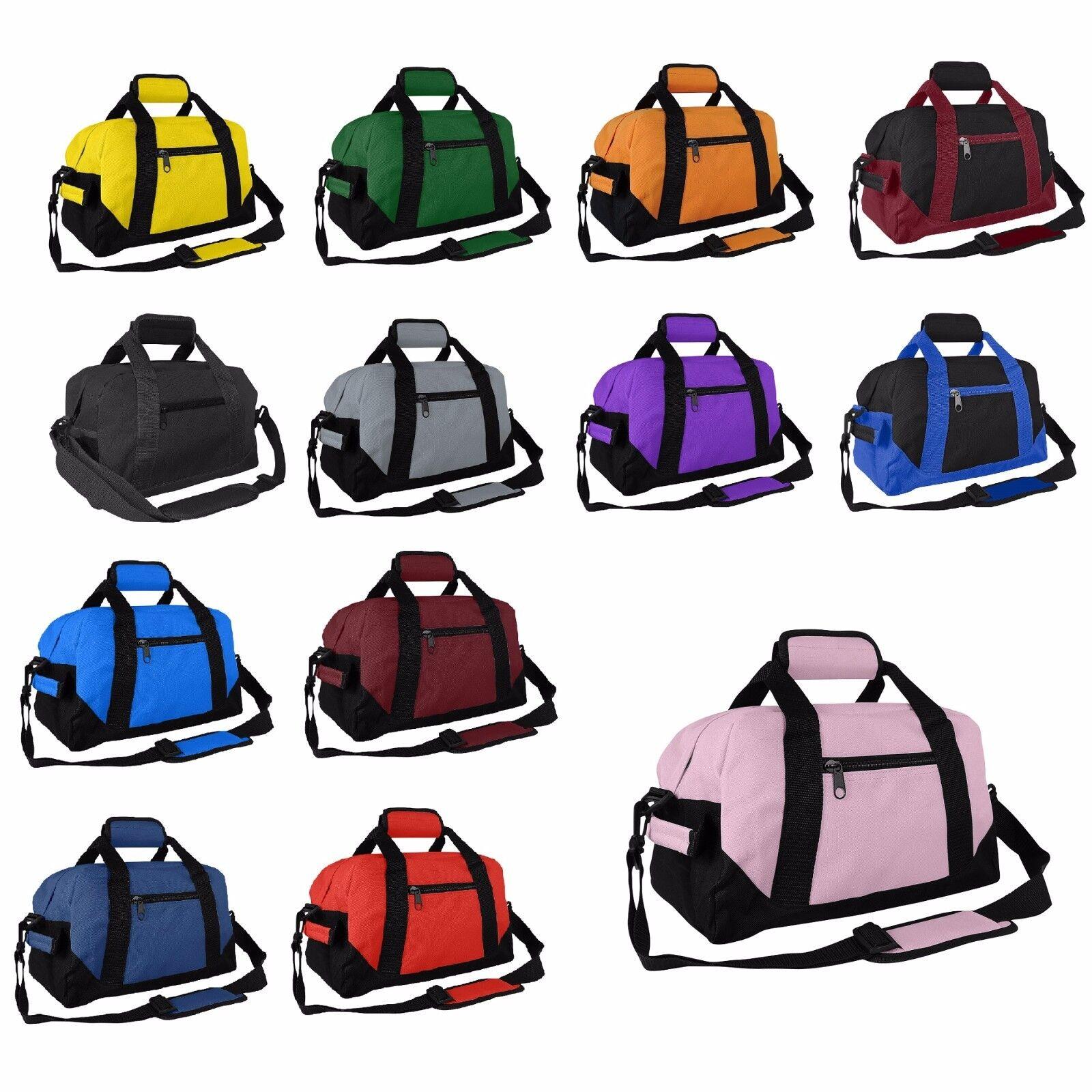 "DALIX 14"" Duffle Gym Mini Travel Bag Green Black Gray Blue R"