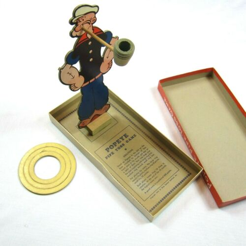 Vintage 1935 Popeye Pipe Toss Game w/ Original Box King Features Rosebud Art Co.