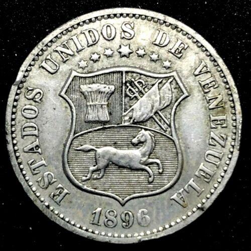 Venezuela 1896 12-1/2  Centimos Copper-nickel  Lovely & Scarce Coin. Y#28