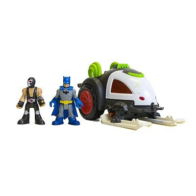 Imaginext DC super Friends Bane Sled Vehicle with 2 Figures Batman And Bane