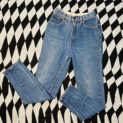 Vintage Coca Cola Blue Denim Leather Patch Jeans Youth Size