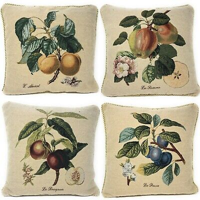 Vintage Farmhouse Tapestry Apple Fruit Country Accent Throw Cushion Pillow Cover (Fruit Tapestry Throw)
