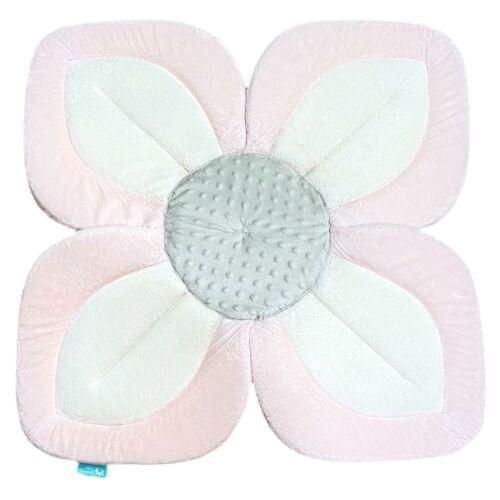 Blooming Bath Lotus Baby Bathing Mat Bath Cushion Flower Pink White Grey EUC